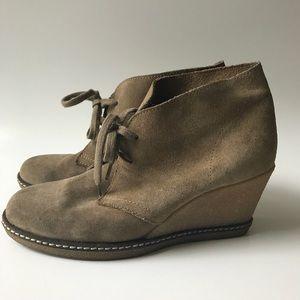 J. Crew Macalister wedge desert boots